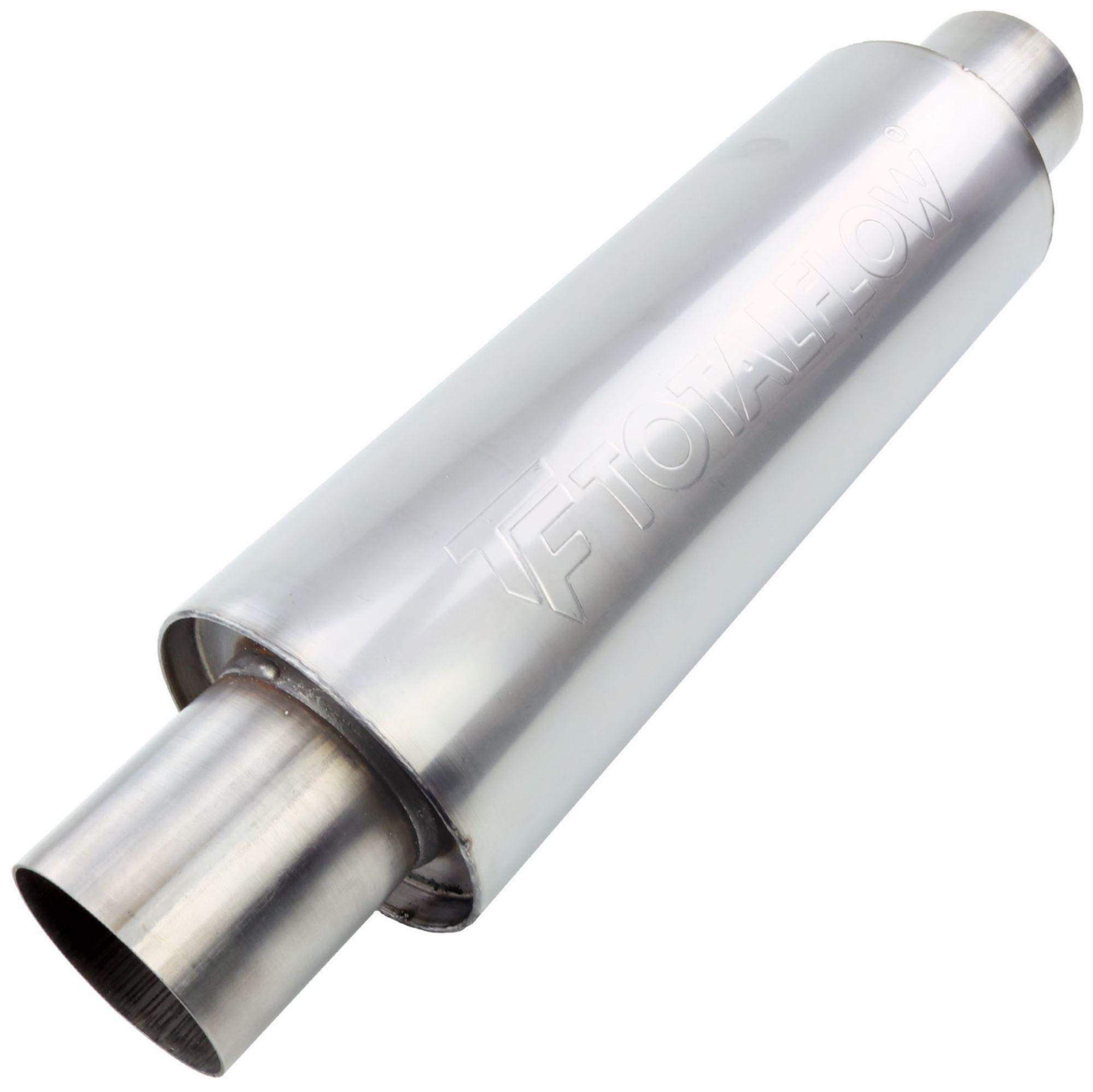 TOTALFLOW 22421 Straight Through Universal Exhaust Muffler - 4 Inch ID