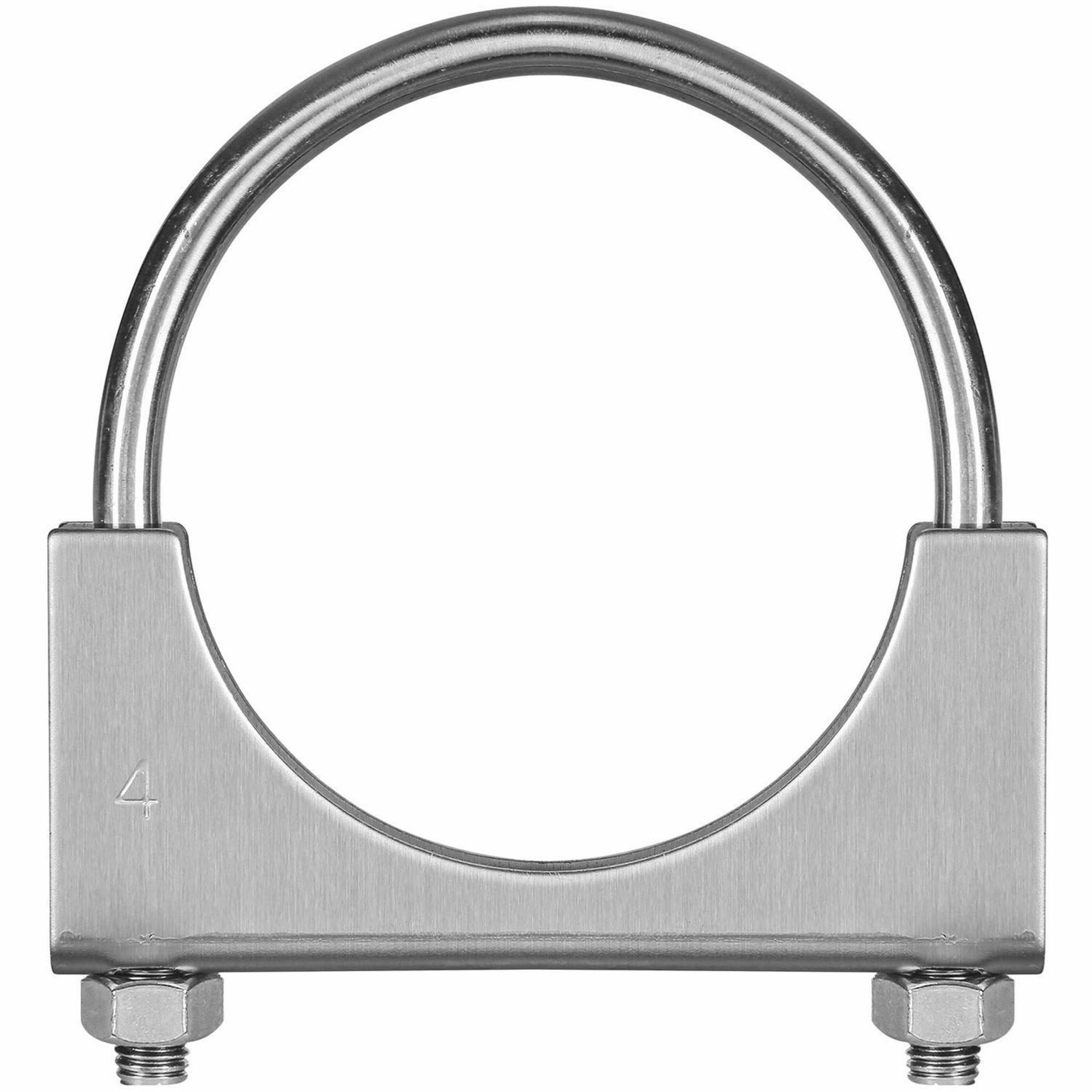 TOTALFLOW TF-U400 U-Bolt | Saddle Exhaust Muffler Clamp Band | 4 Inch