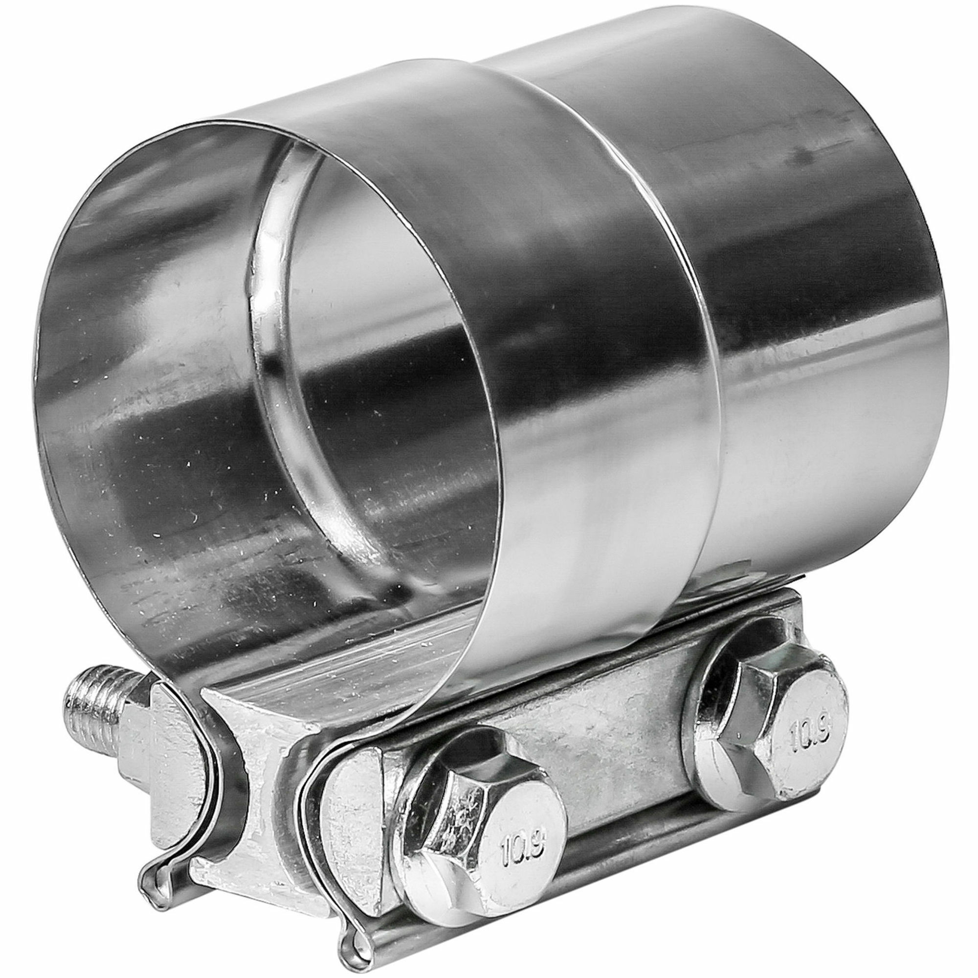"""TOTALFLOW TF-J58 Lap Joint Exhaust Muffler 2-1/2"""" Inch Clamp Band   2.5"""" Inch"""