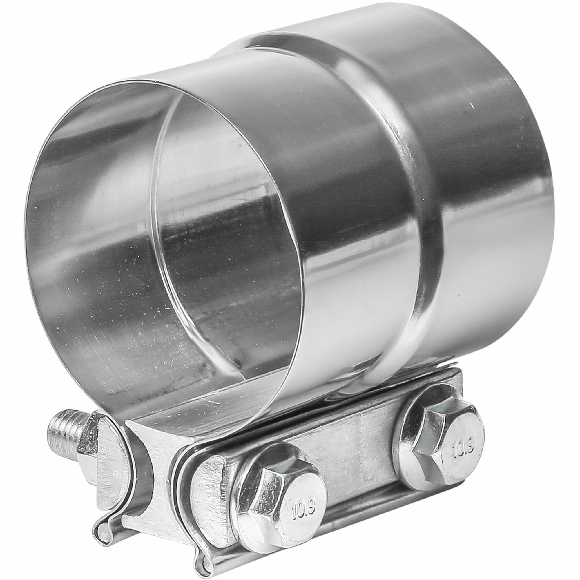 """TOTALFLOW TF-J59 Lap Joint Exhaust Muffler 2-3/4"""" Inch Clamp Band   2.75"""" Inch"""