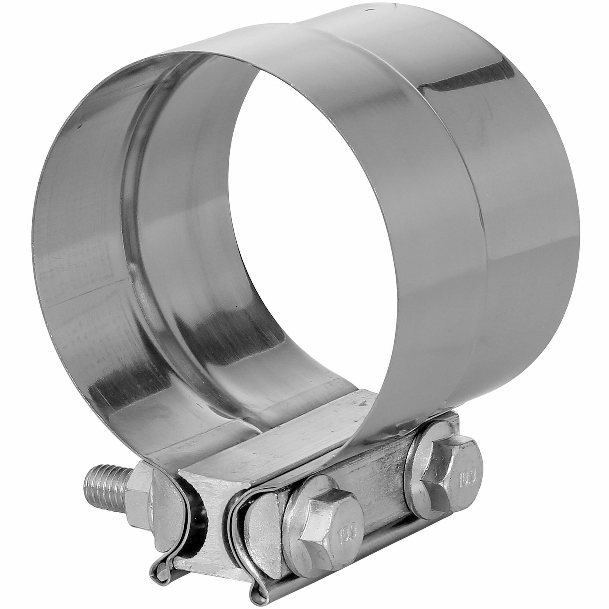 """TOTALFLOW TF-J61 Lap Joint Exhaust Muffler 3-1/2"""" Inch Clamp Band 
